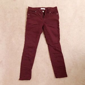 LOFT - Burgundy modern skinny jeans